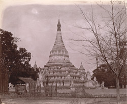 General view of the Eindawya Pagoda, Mandalay